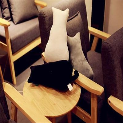 Cat Shape Waist Throw Back Rest Pillow Sofa Pillow Cushion Home Decor L