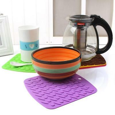 Silicone Kitchen Trivet Pot Tray Mat Baking Tool Heat Resistant Pan Table Mats L