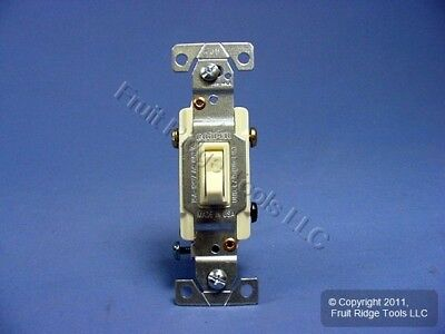 10 Cooper Almond Residential Toggle Light Switches 3-WAY 15A 120V 1303-7A