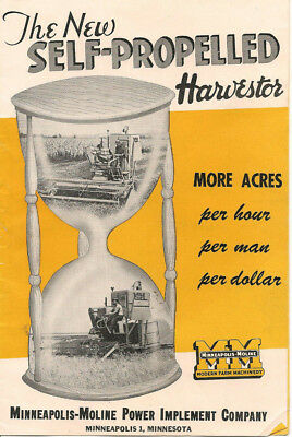 Minneapolis Moline The New Self-Propelled Harvestor Brochure
