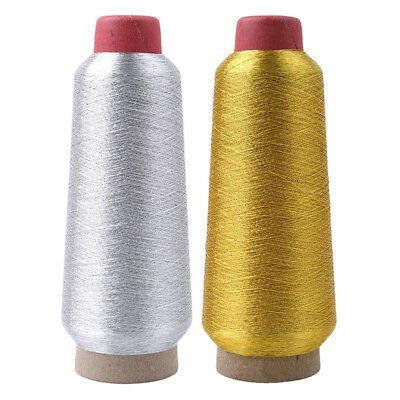 Sparkle Metallic Machine Embroidery Thread With Paper Golden Silver Color L