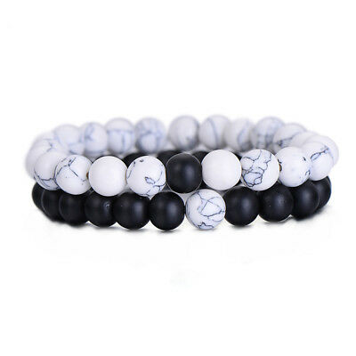 Couples His And Hers Distance Bracelet Lava Bead Bracelet Jewelry L