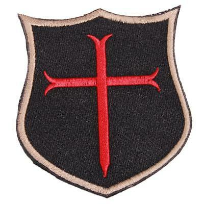 Patch Patches Cross Crusader Shield Tactical Templar Badge Army  L