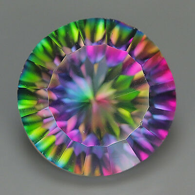 9.85 Ct Natural Brazil Multi-Color MYSTIC QUARTZ Round Gemstone @ See Video !!