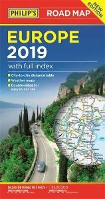 Philip's Europe Road Map by Philip's Maps 9781849074353 (Paperback, 2018)