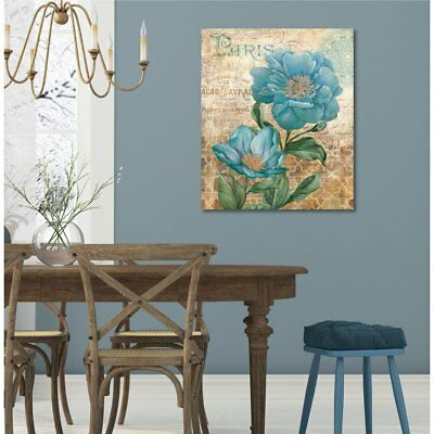 Courtside Market Paris Blue II Gallery Wrapped Canvas Wall Art - 16x20