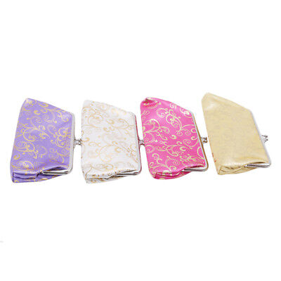 Womens Retro Vintage Purse Flower Printing Small Wallet Card Holder Coin Bag L
