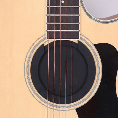 Acoustic Guitar Sound Hole Cover Block Feedback Buster Black L