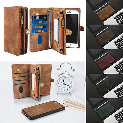 2in1 Luxury Magnetic Flip Leather Wallet Case Cover For Apple iPhone X 8 7 6S US