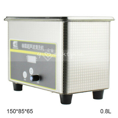 0.8 Liter Heater Ultrasonic Cleaners Cleaning Gold Ring Glass Digital Machine