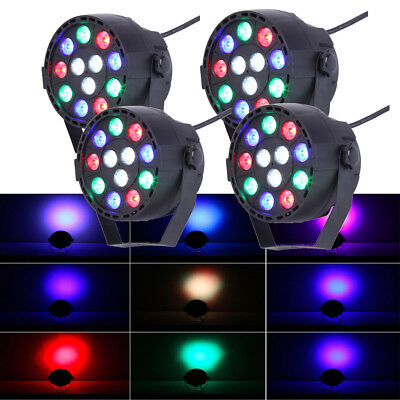 4 PCS LED Par Stage Light Sound Disco KTV Stage Lighting 12W MINI CAN Wedding DJ