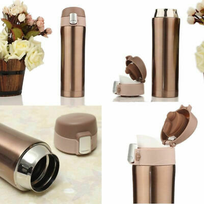 500ML Stainless Steel Water Vacuum Insulated Thermal Travel Mug Cup Bottle UP