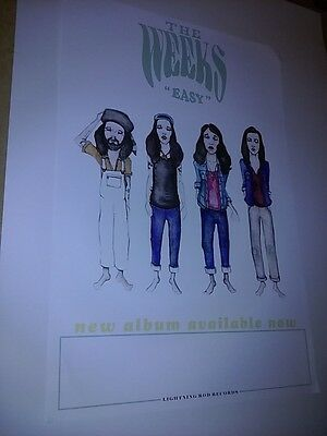 POSTER by The WEEKS easy For The bands new album tour promo show gig cd concert