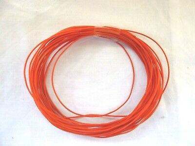 N,OO OR O GAUGE MODEL RAILWAY RED WIRE x 10 METRES