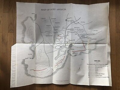China Old Map Of Port Arthur Arthur Japan Russia War Erlung Shan Fort Tung Chi!!