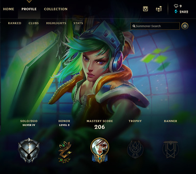League of Legends Account | LOL | NA | SILVER IV | 58 Champ 16 skins - SALE !