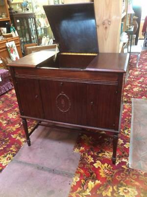 Antique Wooden Cocktail Drinks Cabinet Bar Old  Gramophone Sideboard Buffet