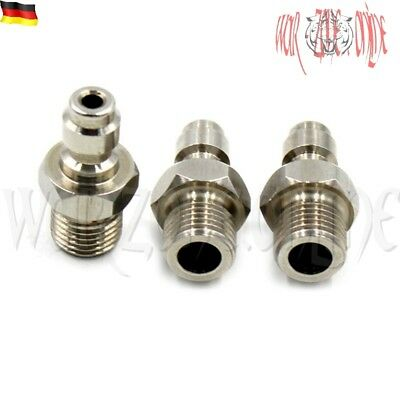 Paintball PCP Filling Nipple Male 8mm/M10x1 Thread INOX 4500psi/300Bar Free-Hole