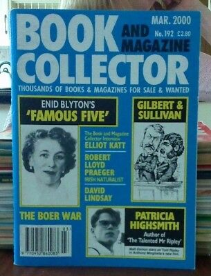 Book and Magazine Collector #192 March 00 Enid Blyton Patricia Highsmith