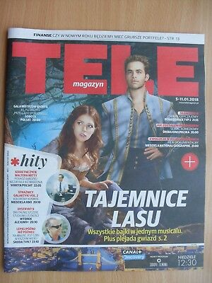 INTO THE WOODS / ANNA KENDRICK & CHRIS PINE on front cover TELE MAGAZYN 1/2018