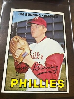 1967 Topps # 560 Jim Bunning Philadelphia Phillies EXMT/ NM SHARP