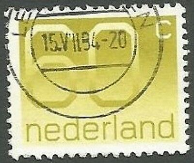 Netherlands Scott# 791, Numeral of Value, Yellow, 60c, Used, 1991