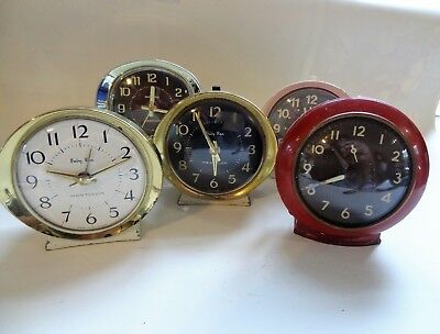 Job Lot of 5 Westclox  Baby Ben Alarm Clocks  Not Working  for spares or repairs