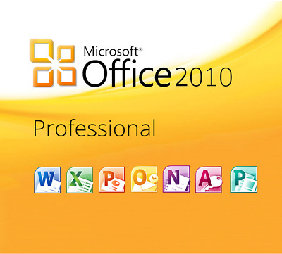 Microsoft Office 2010 Professional Plus MS Office PRO Plus, Vollversion