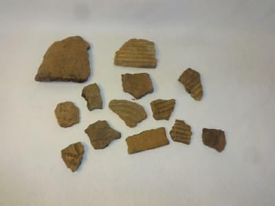 Ancient Native Georgia American Indian Pottery Shards Savannah River Stamped