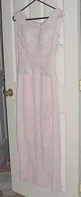 CAMERON BLAKE Bridal Mother of Bride/Groom Gown Size 4P Pink Rhinestones WT $95