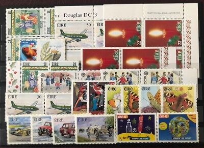 IRELAND New Issues, XF Mint Never Hinged Stamps Lot, Topicals (264)