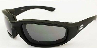 Motorcycle Goggle Padded Daytona Sunglasses Biker glasses + Hard Clam Shell Case