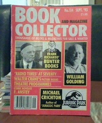 Book and Magazine Collector #114 Sept 93 Michael Crichton  Frank Richards