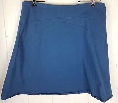 Patagonia Womens Size Large Vitaliti Skirt Pull On Blue Stretch Organic Cotton