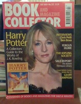 Book and Magazine Collector #232 July 03 J K Rowling Harry Potter
