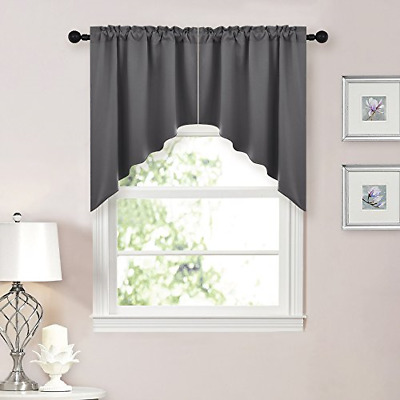 NICETOWN HALF WINDOW Kitchen Tier Curtains- Tailored ...