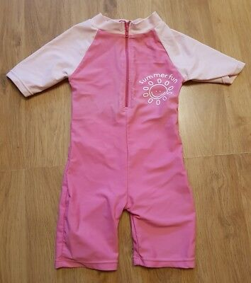 baby girls 6-9 months swimming costume pink