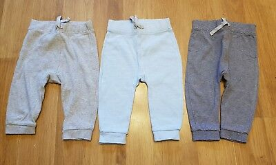 lovely baby boys 6-9 months trousers x 3 pairs joggers great condition
