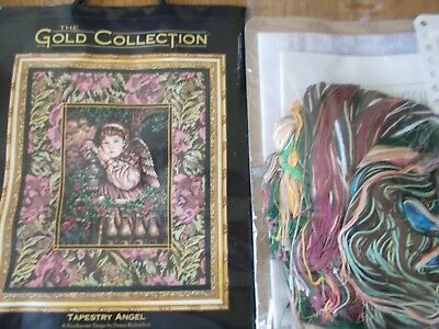 "Needlepoint Kit Gold Collection  "" Tapestry Angel "" New by Dimensions"