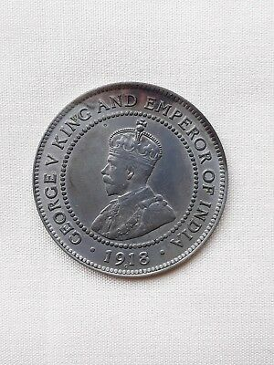 1918 C Jamaica One Penny King George V Rare Coin