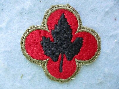 WWII US Army Patch 43rd Division OD Border Green Back Variation Pacific WW2