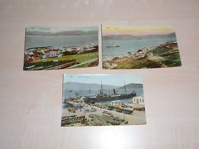 1912 Three Spanish Postcards Of Vigo Views By J.Figueroa Vigo