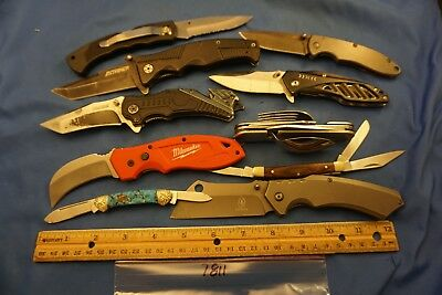 7811 Ten assorted pocket knives