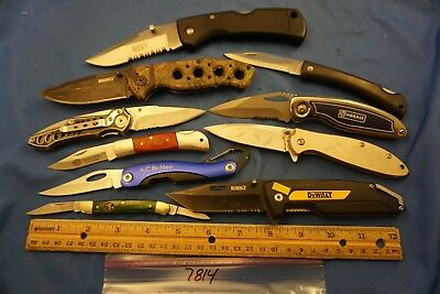 7814 Ten assorted pocket knives