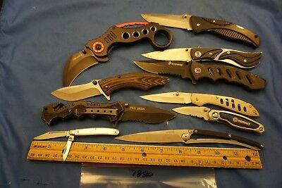 7820   Ten assorted pocket knives