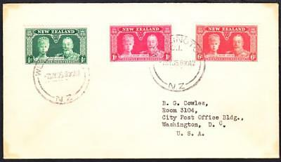 1935 SILVER JUBILEE Stamps NEW ZEALAND First Day Cover FDC (7725)