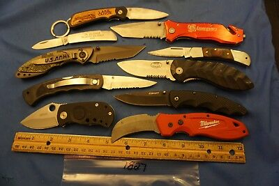 7827   Ten assorted pocket knives