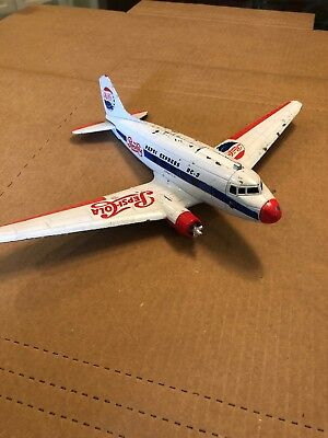 Pepsi Pepsi-Cola Dc3 Propeller Airplane Bank,die-Cast, 1960's