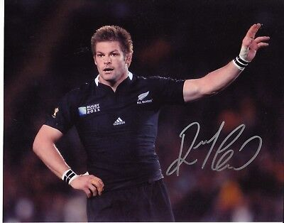 Richie McCaw Autographed New Zealand All Blacks Rugby Photograph with COA