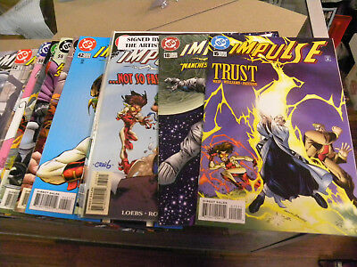 DC 1996 12 issues IMPULSE #15 to #65 1 signed by Craig Rousseau Kid FLASH qq